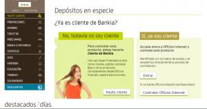 Cotratar deposito Bankia